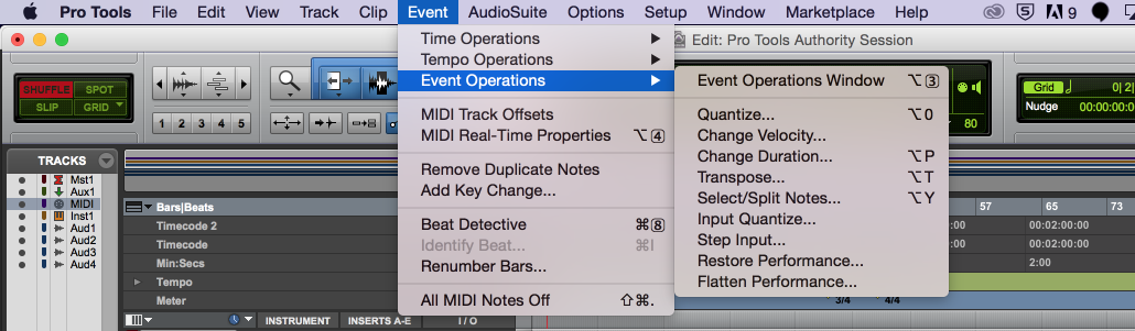 Input Quantize Options in Pro Tools - Pro Studio Live Blog